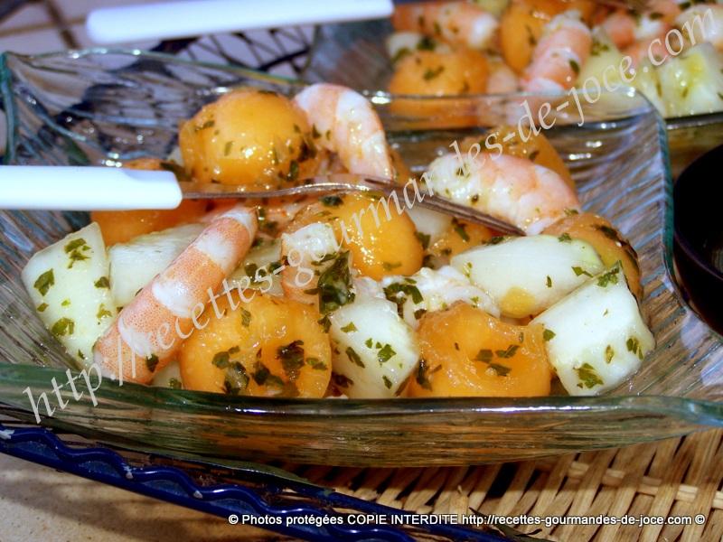 salade sucrée salée melon