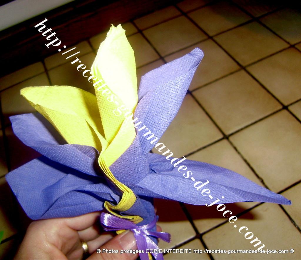 Pliage De Serviettes Oiseau Du Paradis Ou Fleur