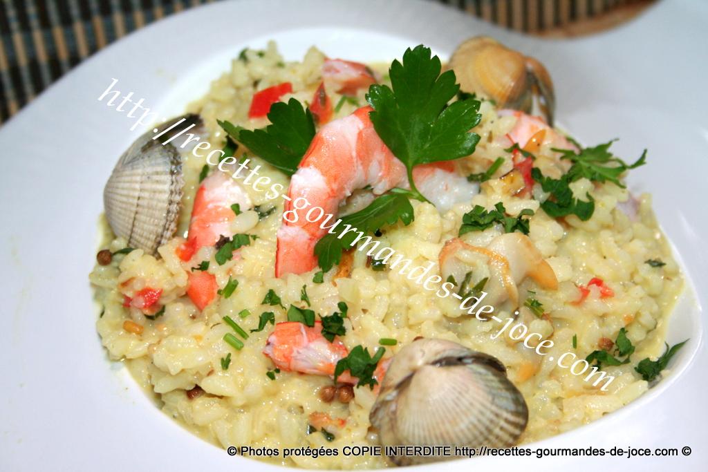 Risotto aux coques, crevettes et curry à l'ancienne ...