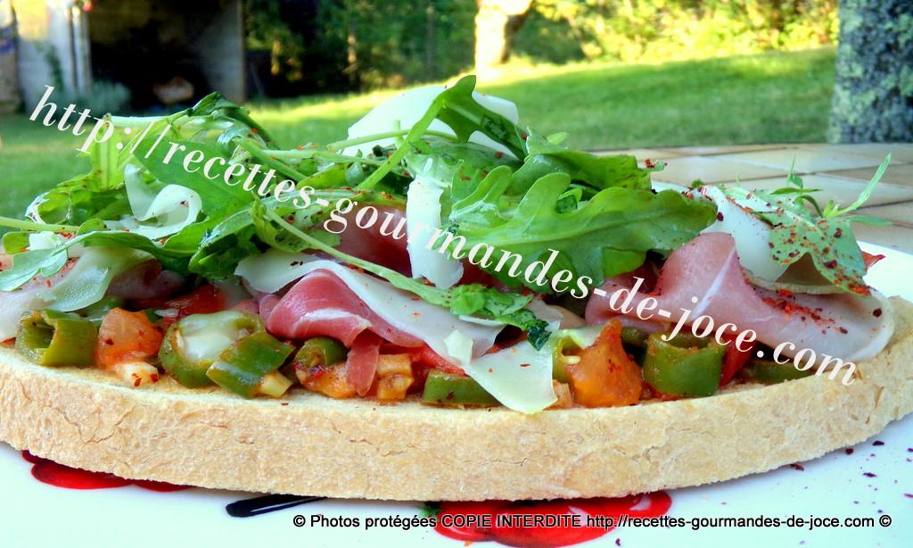 Tartine Basque d'après la recette de Philippe Etchebest